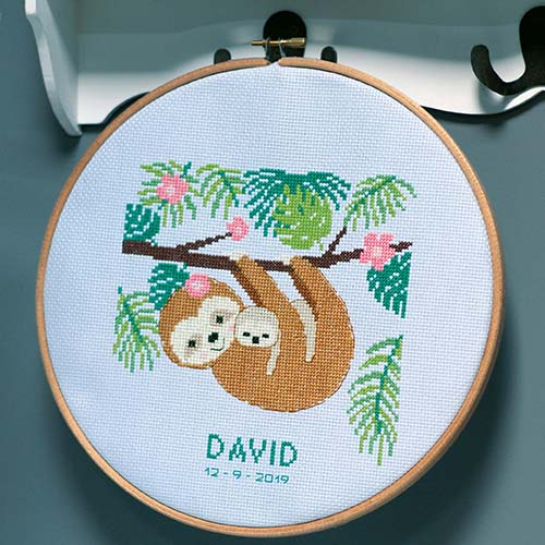 Counted cross stitch kit Sweet sloth PN-0178413