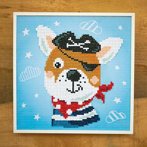 Diamond painting kit Pirate dog PN-0183219