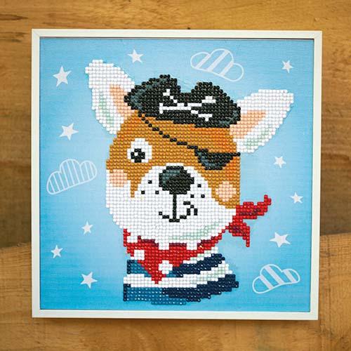 Diamond painting kit Pirate dog PN-0183219