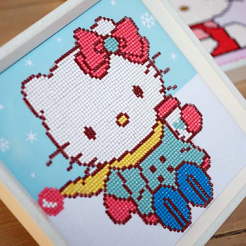 Diamond painting kit Hello Kitty in the snow PN-0175610