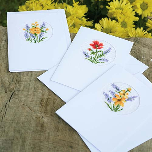 Greeting card kit Flowers & lavender set of 3 PN-0169664