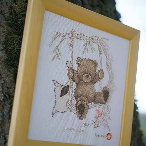 Counted cross stitch kit Popcorn bear swing PN-0011188