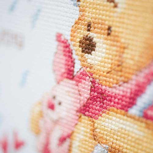 Counted cross stitch kit Disney Winnie in the rain PN-0172703
