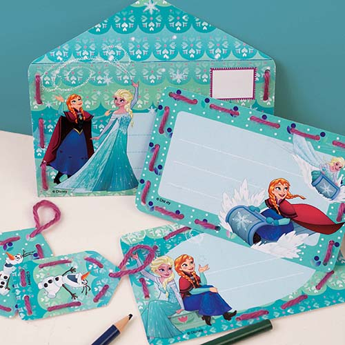 Embroidery card kit Disney Anna and Elsa set of 5 PN-0166249