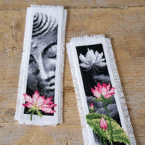 Bookmark kit Lotus & Buddha set of 2 PN-0155652