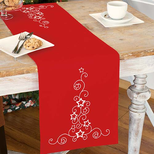 Table runner kit White stars and swirls PN-0012926