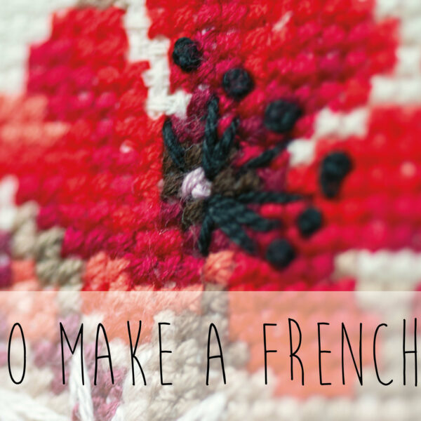 How to make a french knot